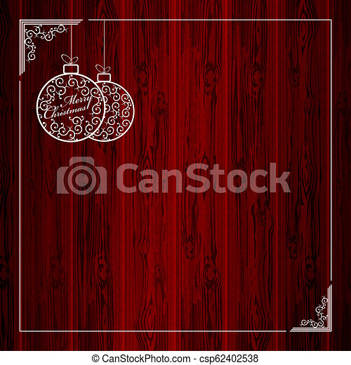 Composition of two white christmas balls with a frame. - csp62402538