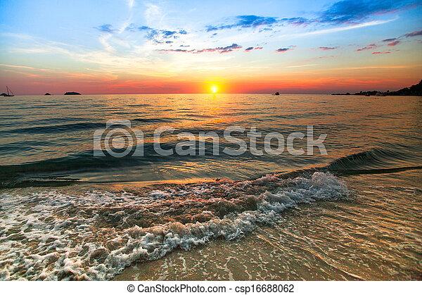 composition., tramonto oceano, natura - csp16688062
