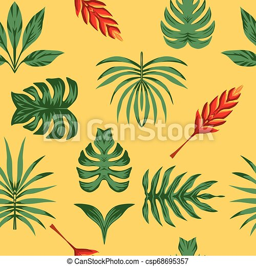 Composition Tropical Leaves Seamless Symmetry Symmetrical Composition Of Tropical Flowers And Green Leaves On A Yellow 115,000+ vectors, stock photos & psd files. can stock photo