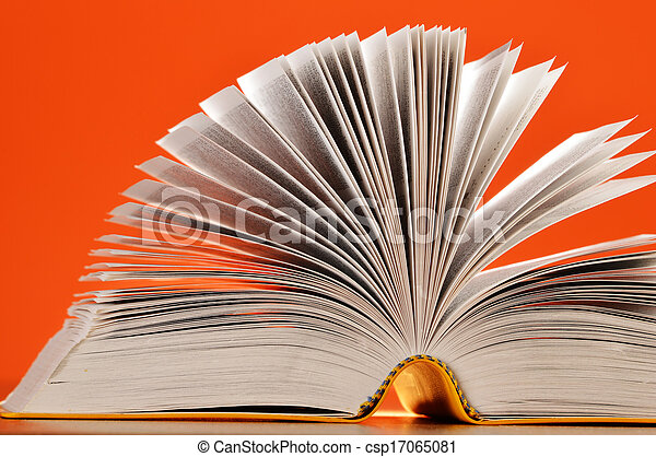 Composition with books on the table - csp17065081