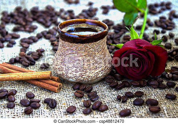 Composition with coffee - csp48812470