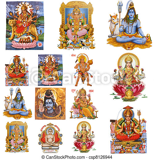 composition with hindu gods - csp8126944