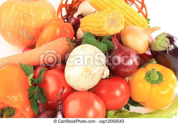 Composition with raw vegetables - csp12000543