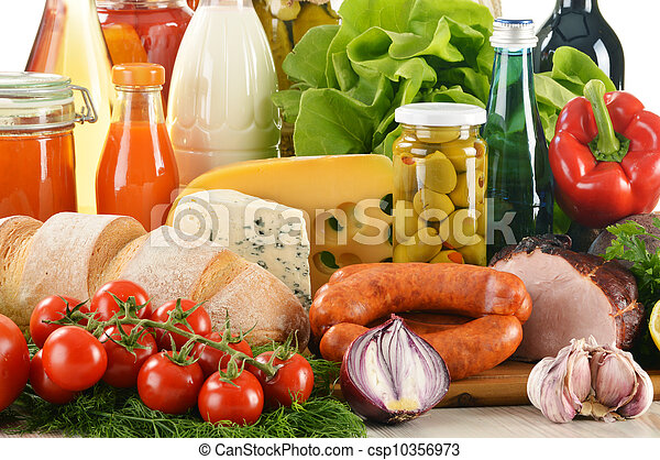 Composition with variety of grocery products - csp10356973