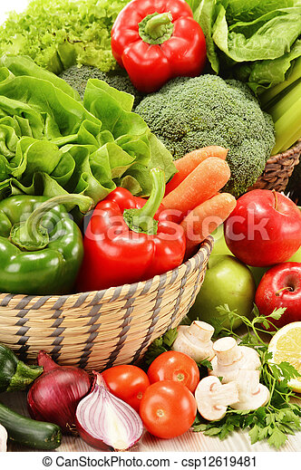Composition with variety of raw vegetables - csp12619481