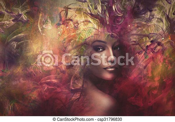 composito, fantasia, donna - csp31796830