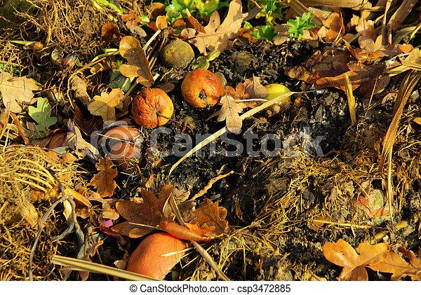 compost pile 15 - csp3472885