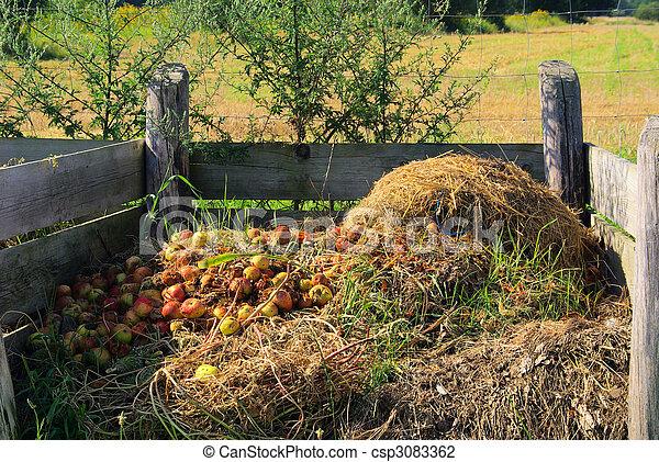 compost pile  - csp3083362