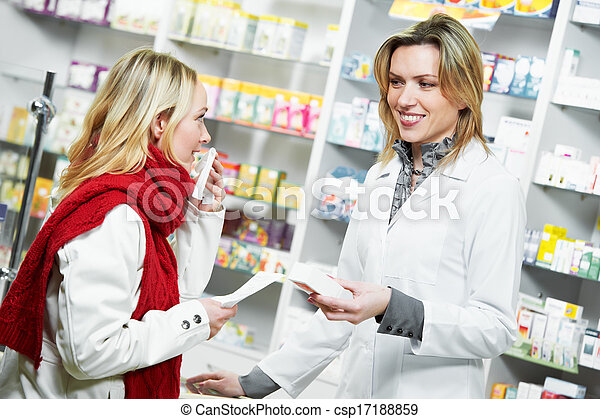 La compra de drogas de la farmacia médica - csp17188859