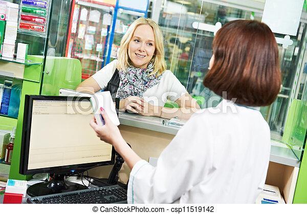 La compra de drogas de la farmacia médica - csp11519142