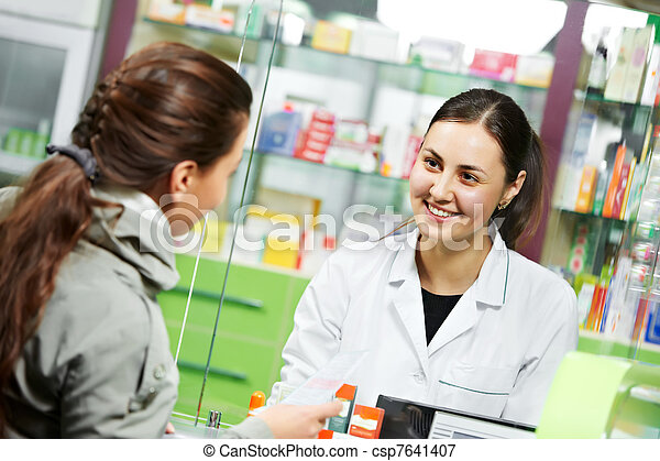 compra, médico, droga, farmacia - csp7641407