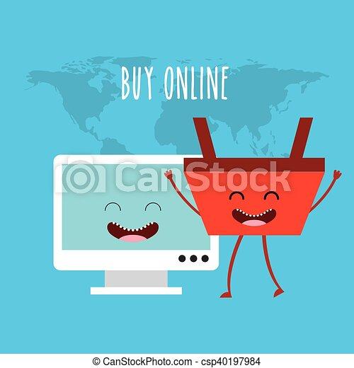 Compra un ícono de carácter en línea - csp40197984