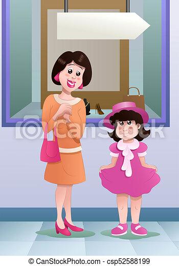 1da8cb4b9afb comprar, hija, ella, madre, compras, vestido