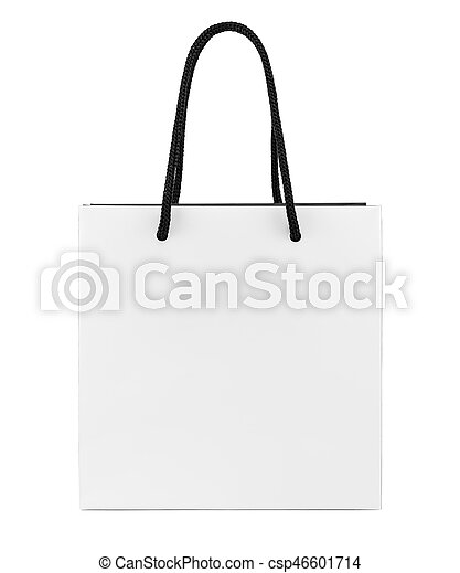 Bolsa Aislado Blanco Compras Papel Negro 8qOpxzFU