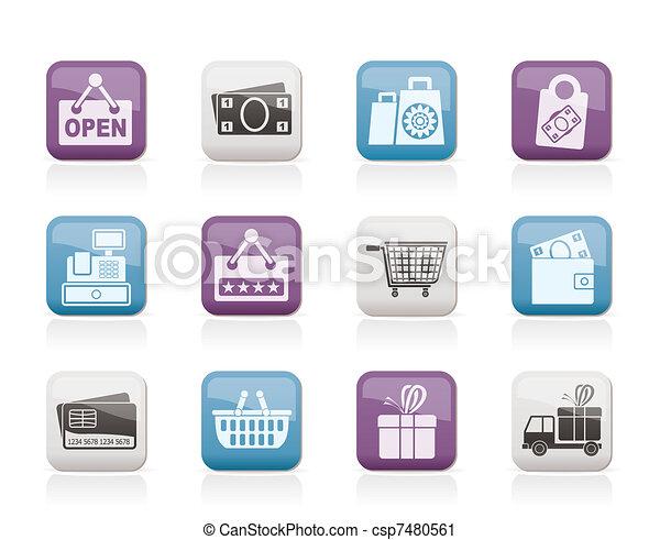 Comprando y vendiendo iconos - csp7480561