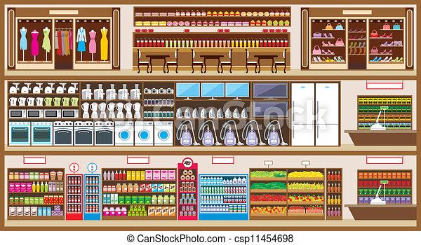 En el centro de compras - csp11454698