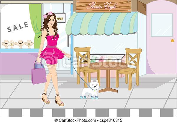 Mujer de compras - csp4310315