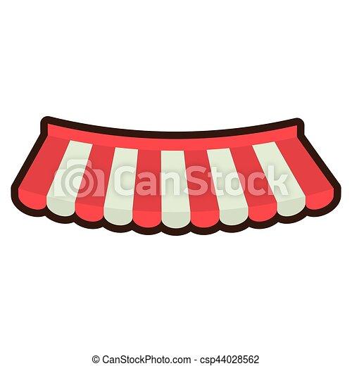 El emblema de la tienda de dibujos animados - csp44028562
