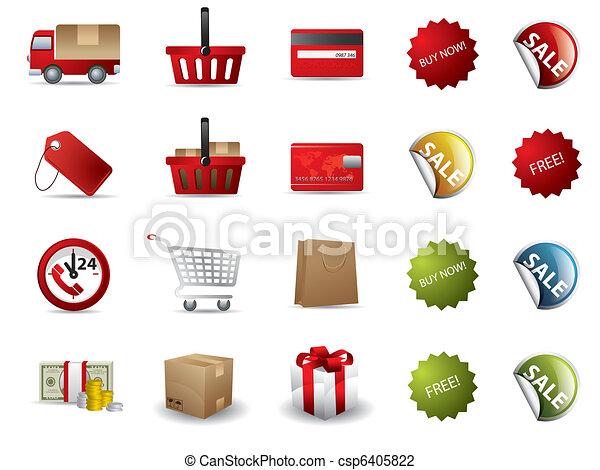 Comprando iconos - csp6405822