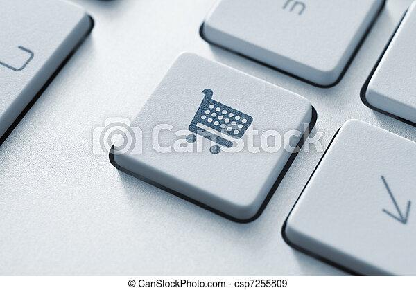 Una llave de compras - csp7255809
