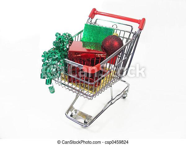 Compras de Navidad - csp0459824