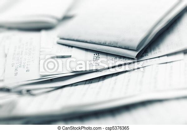 compras, recibos - csp5376365
