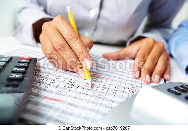 comptabilité, notes - csp7019207