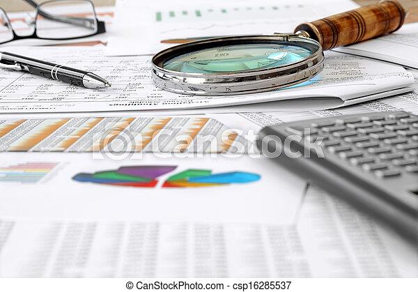 comptabilité, table - csp16285537