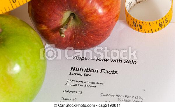 compte calories - csp2190811