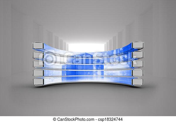 Imágenes de servidor en pantalla abstracta - csp18324744