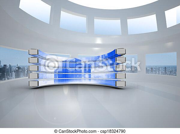Imágenes de servidor en pantalla abstracta - csp18324790