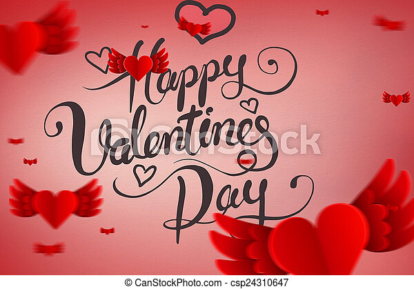 Imagen compuesta de San Valentín - csp24310647