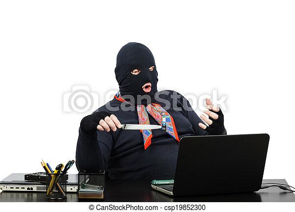 computador, assaltante, escritório - csp19852300