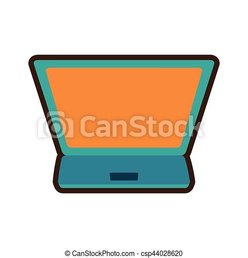 Comprar dibujos en internet portátil digital - csp44028620