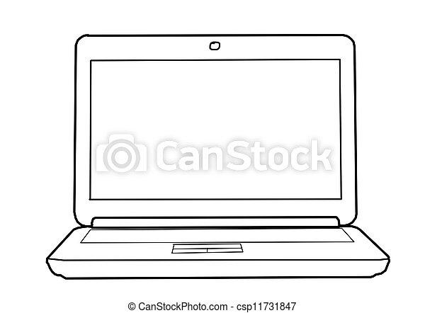 Dibujo portátil. Dibujando portátil con esquema seo en la mesa.
