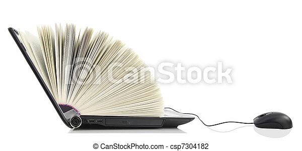 La computadora de arriba como un libro - csp7304182