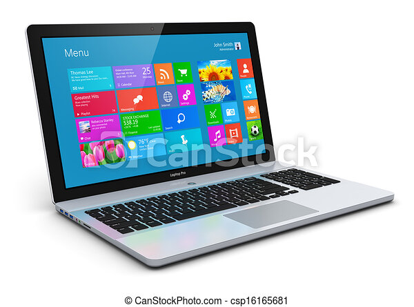 Un portátil moderno - csp16165681