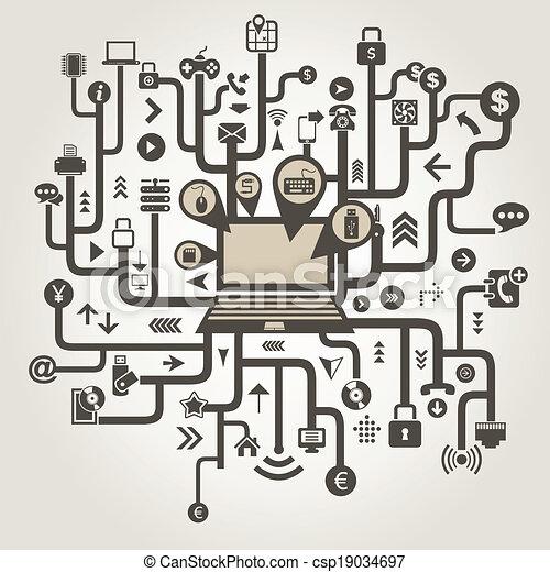 computador, technics - csp19034697