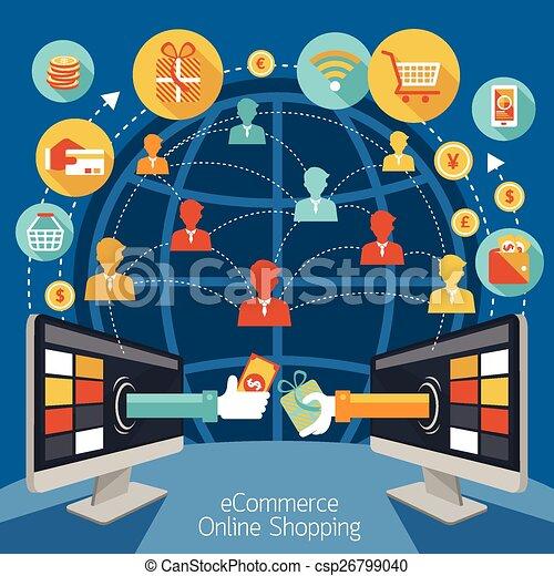 Monitor informático de compras en línea - csp26799040