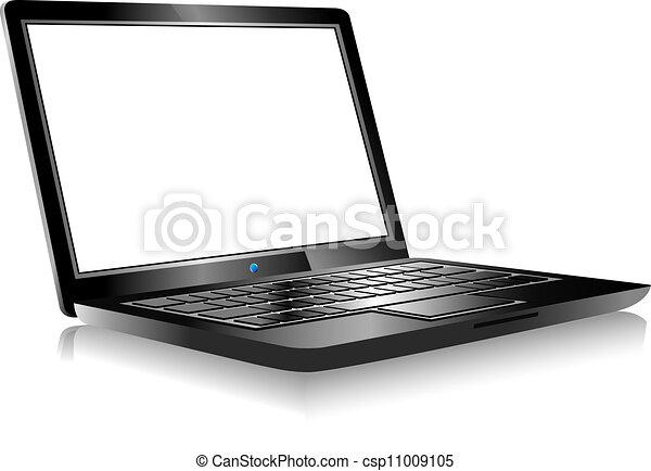 Computadora de computadoras sin antecedentes blancos - csp11009105