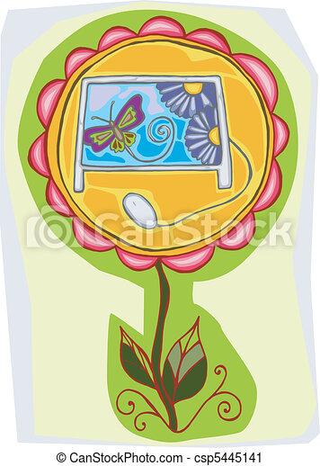 Flor de computadora - csp5445141