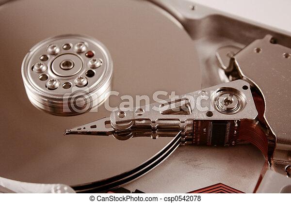 El disco duro de la computadora - csp0542078