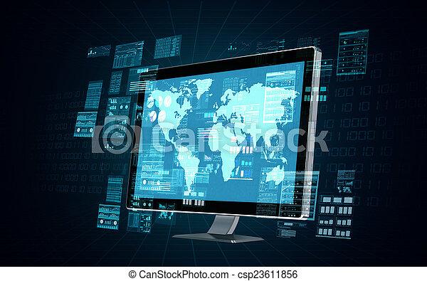 Computadora de servidores de Internet - csp23611856