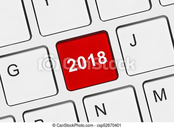 computer, 2018, klee, toetsenbord - csp52670401