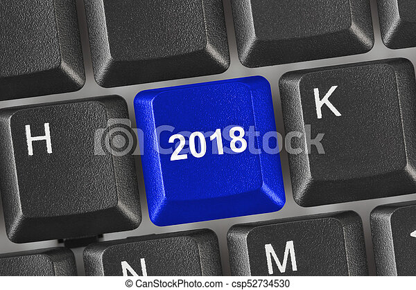 computer, 2018, klee, toetsenbord - csp52734530
