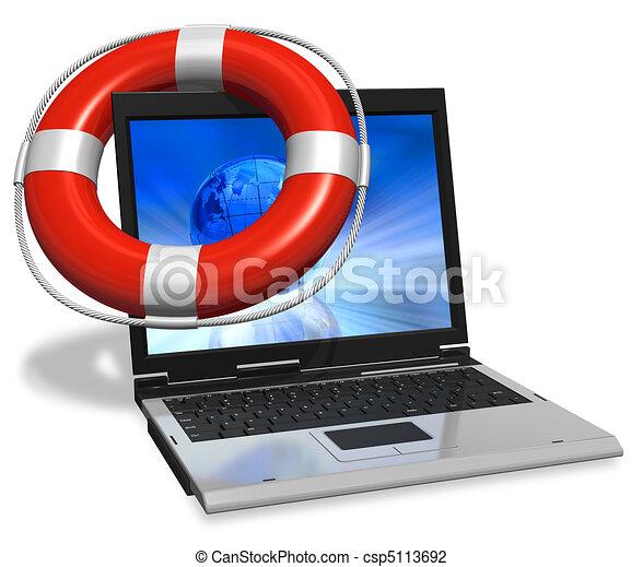 Computer assistance concept - csp5113692