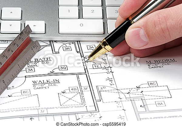 Computer blueprint modern architects office with blueprint computer blueprint csp5595419 malvernweather Images