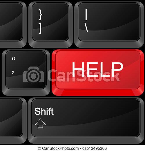 computer button help - csp13495366