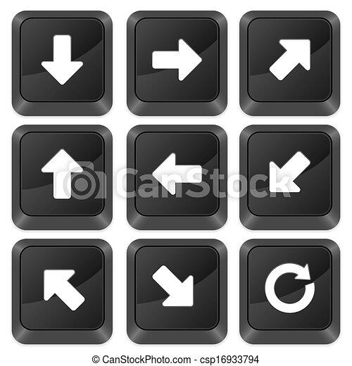 computer buttons arrows - csp16933794