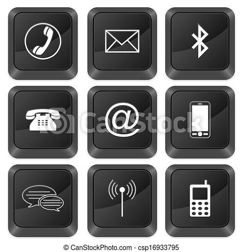 computer buttons communication - csp16933795